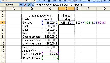 Excel Wenn Formeln