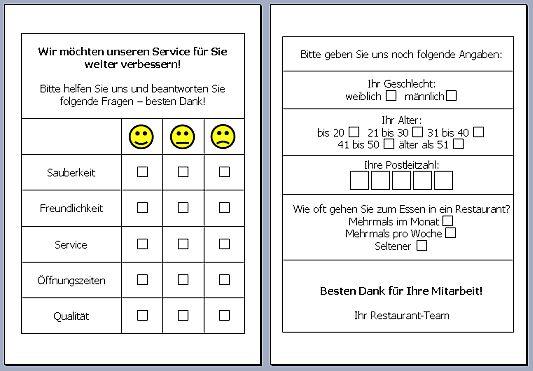 Word übung Umfrageformular Online Im S L Z